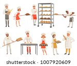 bakers characters set with... | Shutterstock .eps vector #1007920609