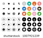cook icons set | Shutterstock .eps vector #1007921239