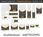 trendy web banners in standard...