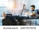 lonely man. sad thoughtful... | Shutterstock . vector #1007927878