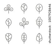 set of monochrome icons with... | Shutterstock .eps vector #1007928646