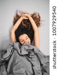 girl waking up in the morning...   Shutterstock . vector #1007929540