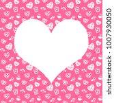 seamless monochrome pattern... | Shutterstock . vector #1007930050