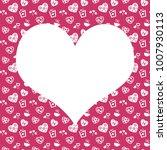 seamless monochrome pattern... | Shutterstock . vector #1007930113