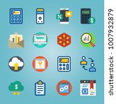 icon set about marketing with... | Shutterstock .eps vector #1007932879