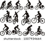 bike silhouettes   cyclists... | Shutterstock .eps vector #1007934664