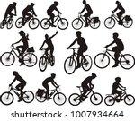 Bike Silhouettes   Cyclists...
