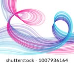 vector abstract flowing curves... | Shutterstock .eps vector #1007936164