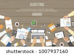 business meeting  audit  data... | Shutterstock .eps vector #1007937160