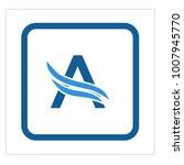 letter a logo | Shutterstock .eps vector #1007945770