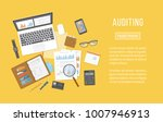 auditing concepts. financial... | Shutterstock .eps vector #1007946913