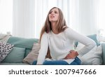 young woman suffering from... | Shutterstock . vector #1007947666