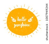 card with calligraphy lettering ... | Shutterstock .eps vector #1007949244