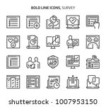 survey  bold line icons. the... | Shutterstock .eps vector #1007953150