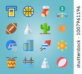 icon set about united states... | Shutterstock .eps vector #1007961196