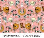 seamless western pattern. set...   Shutterstock . vector #1007961589