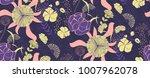 vector seamless floral pattern...   Shutterstock .eps vector #1007962078