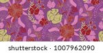 vector seamless floral pattern...   Shutterstock .eps vector #1007962090