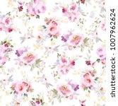 seamless summer pattern with... | Shutterstock . vector #1007962624