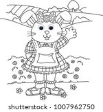 dress up bunny colouring images ... | Shutterstock . vector #1007962750