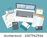 financial audit  accounting ... | Shutterstock .eps vector #1007962966