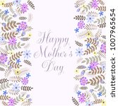 mother's day greeting card with ... | Shutterstock .eps vector #1007965654