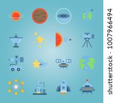 icon set about universe with... | Shutterstock .eps vector #1007966494