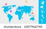 world map infographic template. ... | Shutterstock .eps vector #1007966740
