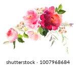 flowers watercolor illustration.... | Shutterstock . vector #1007968684