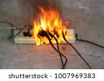 the fire was caused by a short... | Shutterstock . vector #1007969383