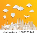 barcelona skyline detailed... | Shutterstock .eps vector #1007969449