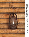 the old kerosene lamp hanging... | Shutterstock . vector #100797109
