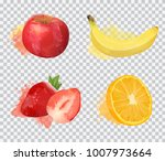 set of delicious fruit vector... | Shutterstock .eps vector #1007973664