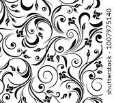 vector seamless black and white ... | Shutterstock .eps vector #1007975140