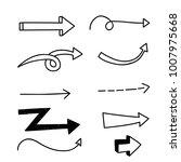 arrow doodle set on white... | Shutterstock .eps vector #1007975668