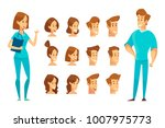male and fermale doctor... | Shutterstock .eps vector #1007975773