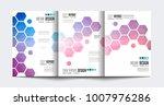 brochure template  flyer design ... | Shutterstock . vector #1007976286