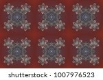 snowflakes pattern. flat design ... | Shutterstock . vector #1007976523