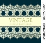vintage invitation card with... | Shutterstock .eps vector #1007978854