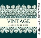 vintage invitation card with... | Shutterstock .eps vector #1007978968
