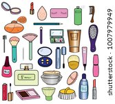 various cosmetic products and... | Shutterstock .eps vector #1007979949