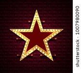 star with light bulbs on the... | Shutterstock .eps vector #1007980090
