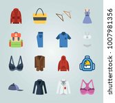 icon set about clothes and... | Shutterstock .eps vector #1007981356