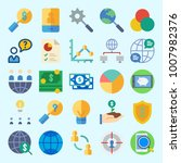 icons set about marketing with...   Shutterstock .eps vector #1007982376