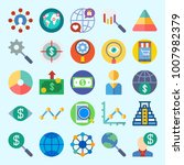 icons set about marketing with... | Shutterstock .eps vector #1007982379
