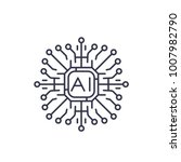 artificial intelligence  ai icon | Shutterstock .eps vector #1007982790
