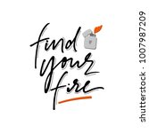 find your fire phrase with hand ... | Shutterstock .eps vector #1007987209