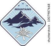emblem of mountain climbing....   Shutterstock .eps vector #1007987668