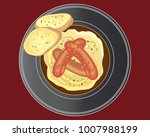 an illustration of a plate of...   Shutterstock . vector #1007988199