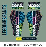 leggings pants fashion vector... | Shutterstock .eps vector #1007989420